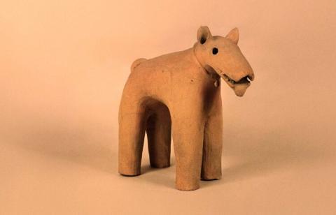 Haniwa Dog Figurine
