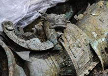 Bronze artifact at Sanxingdui