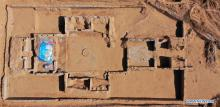 aerial photo shows the site of a temple called Xianying Palace