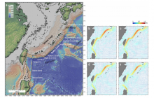 Topography of the study area with the estimated coastlines 35,000–32,000 years ago